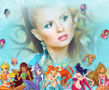 N-842 All the Winx dolls are in one photo frame next to your picture. Stella, Bloom, Flora, Musa, Tecna and Aisha have got together to decorate your photo. Don't let them wait for you and your pictures.