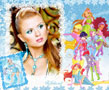 N-981 In this photo frame you can collect all the Winx Dolls. Upload your photo and all the Winx Dolls - Bloom, Stella, Tecna, Roxy, Layla, Musa, Flora, will come together with you in a lovely Photoshop effect. As you know, Winx is a children's toy brand created specially for little girls, which has already won their hearts around the world.